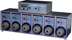 Automatic Peristaltic Dosing Pump or multichannel battery filling pump