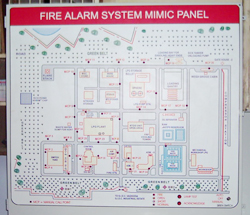 Microprocessor based Industrial Fire Alarm System Display Panel